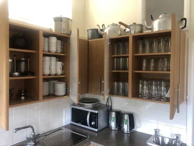 Hall kitchen cupboards
